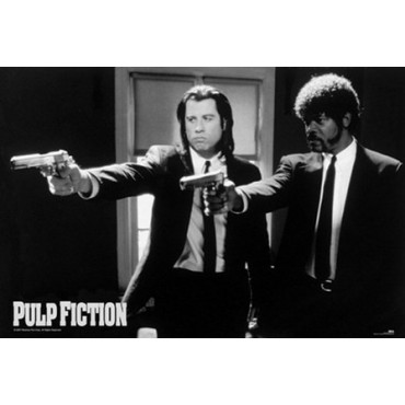 Affiche Poster Plastifié PULP FICTION FLINGUES
