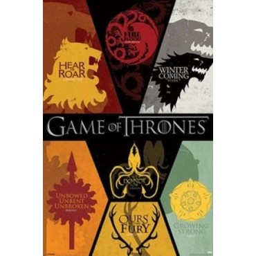 Affiche Poster Plastifié GAME OF THRONES 7 ROYAUMES