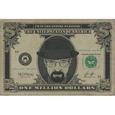 Affiche Poster Plastifié BREAKING BAD DOLLAR