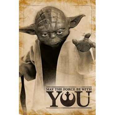 Affiche Poster Plastifié STAR WARS YODA YOU