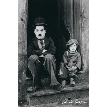 Affiche Poster Plastifié CHARLIN CHAPLIN THE KID