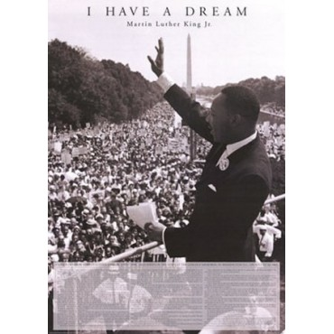 Affiche Poster Plastifié MARTIN LUTHER KING Version anglaise