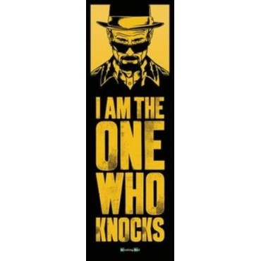 Affiche Poster Plastifié BREAKING BAD I AM THE ONE WHO KNOCKS FORMAT DE PORTE