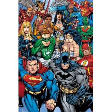 Affiche Poster Plastifié MARVEL COMICS SUPERMAN