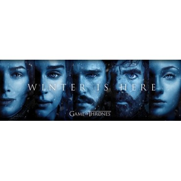 Affiche Poster Plastifié GAME OF THRONES WINTER IS HERE