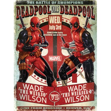 Affiche Poster Plastifié MARVEL COMICS DEADPOOL VS DEADPOOL