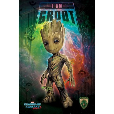 Affiche Poster Plastifié MARVEL COMICS GARDIEN DE LA GALAXIE VOL.2 I AM GROOT SPACE MAXI FORMAT
