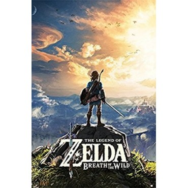 Affiche Poster Plastifié NINTENDO THE LEGEND OF ZELDA BREATH OF THE WILD