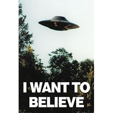 Affiche Poster Plastifié THE X-FILES I WANT TO BELIEVE