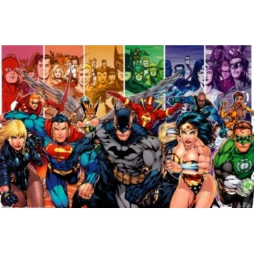 Affiche Poster Plastifié MARVEL COMICS JUSTICE LEAGUE OF AMERICA COMICS