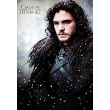 Affiche Poster Plastifié GAME OF THRONES JON SNOW